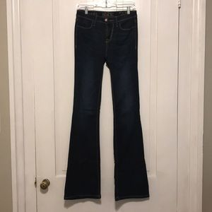 Buckle Flare Jeans